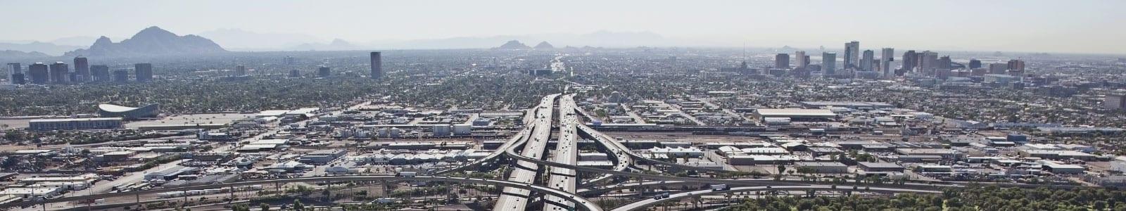 highway birds eye view near phoenix az