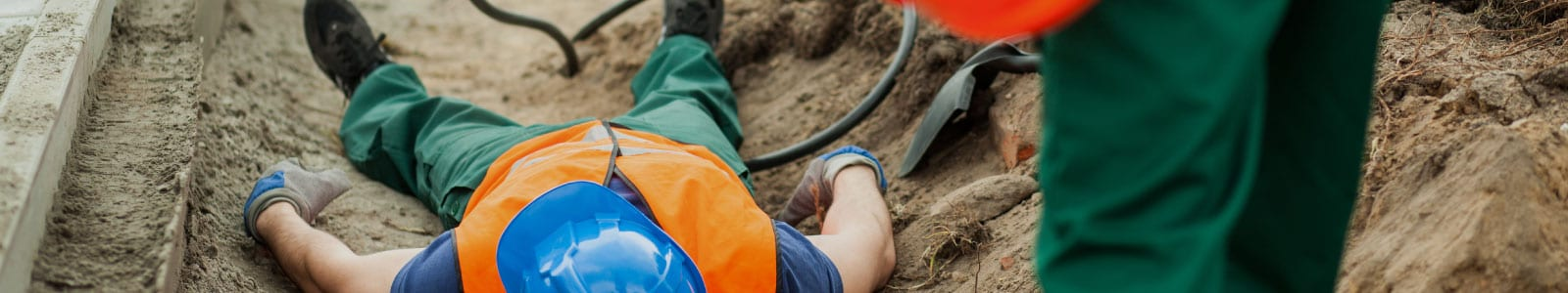 worker injured at construction